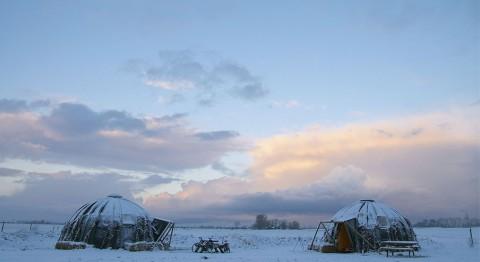 Stoer overnachten in een Groningse iglo