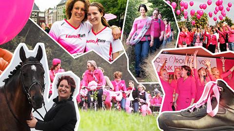Organiseer je eigen fiets- of wandelevenement met Pink Ribbon
