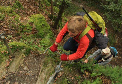 De spanning van een Klettersteig