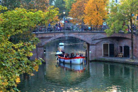 Utrecht nu, een dag herfst in de stad