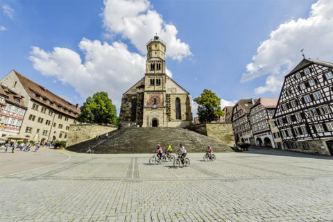 Kocher-Jagst-Fietsroute langs romantische Zuid-Duitse rivieren en steden