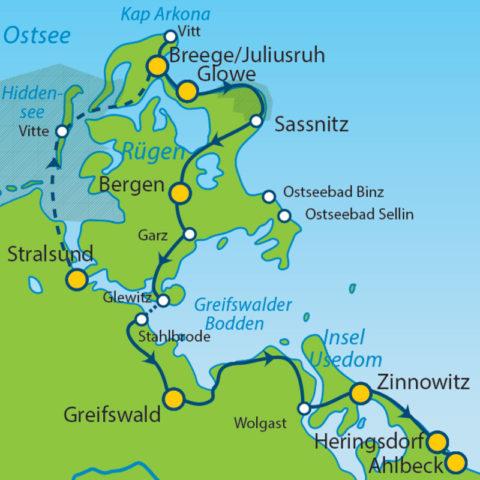 Drie meerdaagse fietsreizen langs de Duitse Oostzeekust