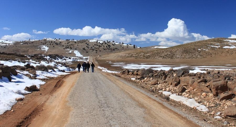 Prachtig wandelen in de winterse Atlas (foto Miez Peek)