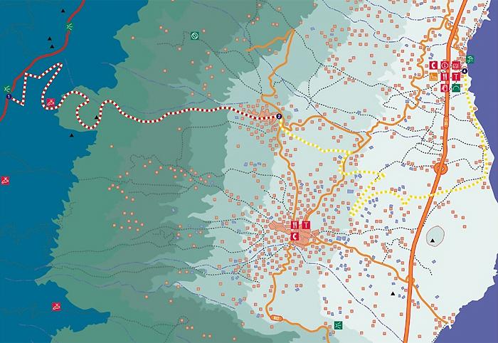 De-route-in-beeld,-Verdeeld