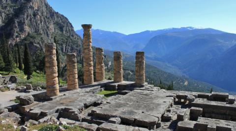 Wandelen over het 'Antieke pad' bij het Orakel van Delphi