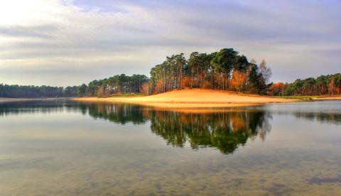 Ronde om het Henschotermeer: als een spiegel in het bos