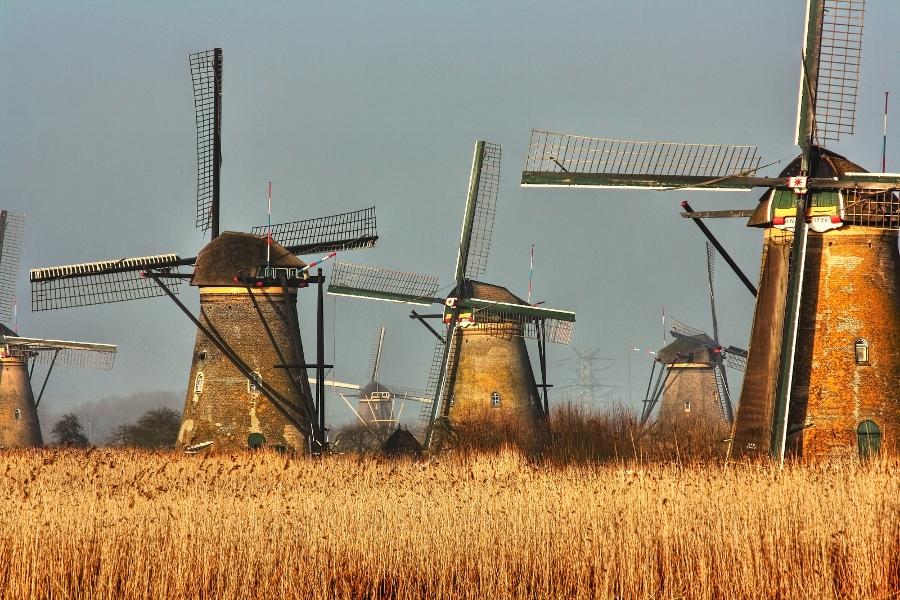 De molens van Kinderdijk (foto Daniel Mennerich, flickr)