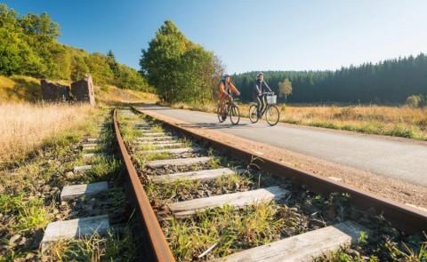 De Vennbahn Radweg:  zonder heuvels door de Eifel