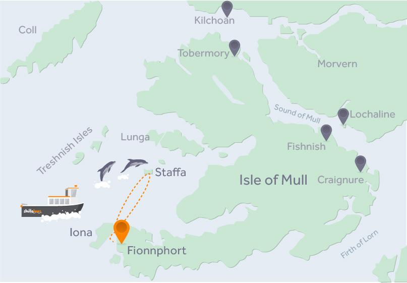 Kaart Staffatours