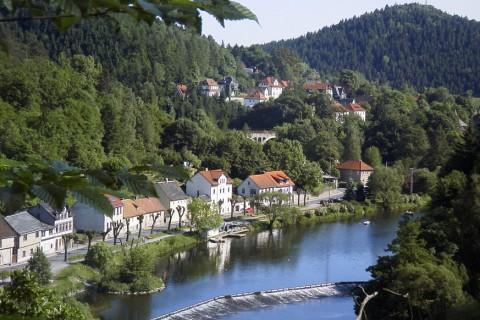 Lange afstand fietsroute langs de mooiste steden van Thüringen