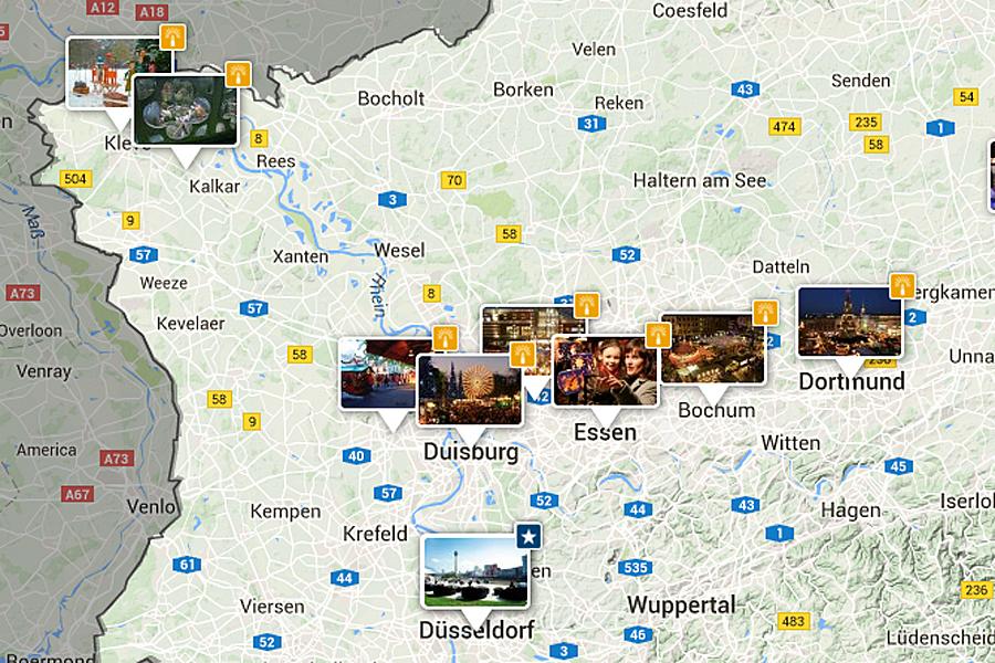 25 Vers Kerstmarkt Duitsland Kaart