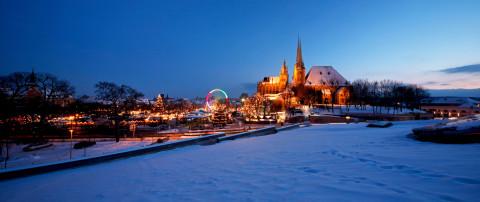 Kerstmarkten Erfurt en Weimar in Middeleeuwse decors