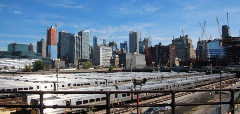 The Highline, lopend over een smalspoor in Manhattan
