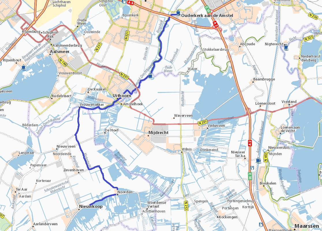 route Amstel