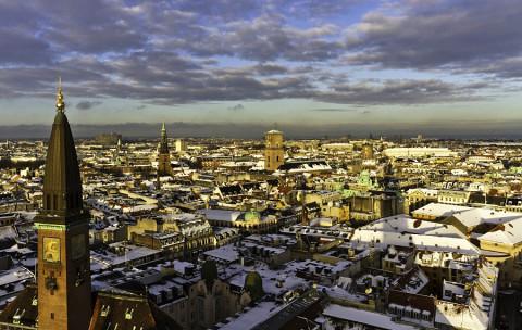 Fietsen & Schaatsen in winters Kopenhagen