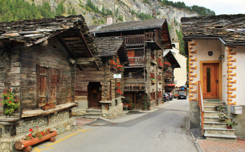 Evolène, een wandeldorpje in de Zwitserse Alpen
