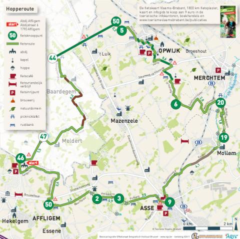 Hop op de fiets voor de 'Hopperoute' in Vlaanderen