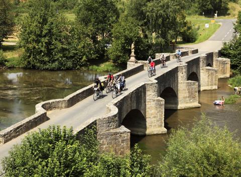Der 'Klassiker' in het Taubertal is één van de mooiste fietsroutes van Duitsland
