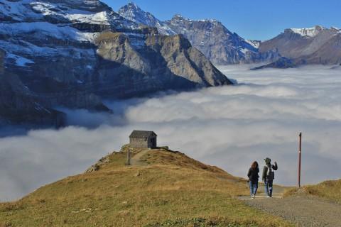 De Eiger-trail: Afdalen onder een 1000m hoge rotswand