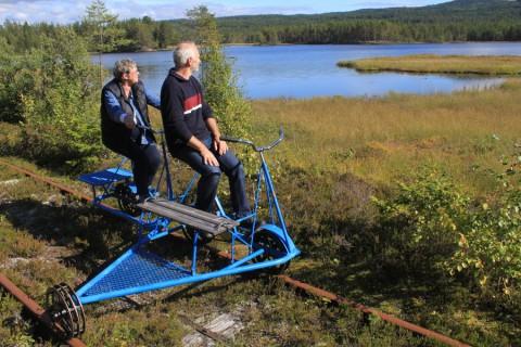 Over het spoor dwars door de Zweedse natuur