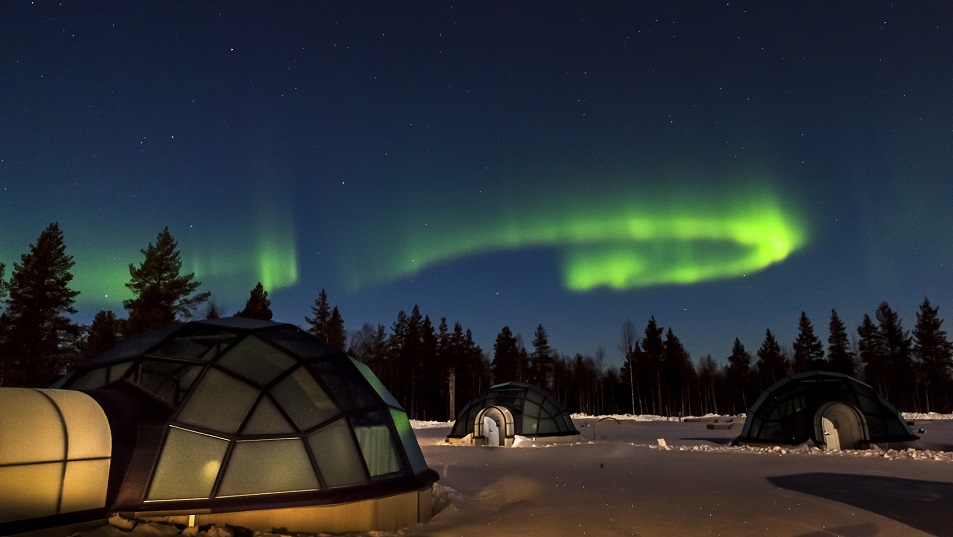 Kakslauttanen Glass Igloos and the Northern Lights 1