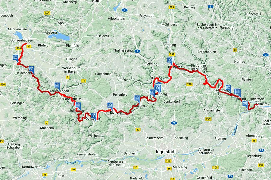 kaart-Altmühltal-Panoramaweg