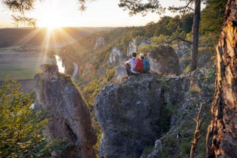 Altmühltal-Panoramaweg: spectaculaire Top Trail eindigend bij de Donau