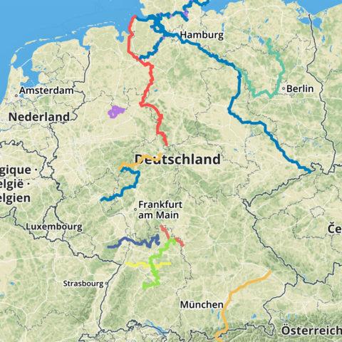 De Top-12 fietsroutes van Duitsland, volgens de Duitsers
