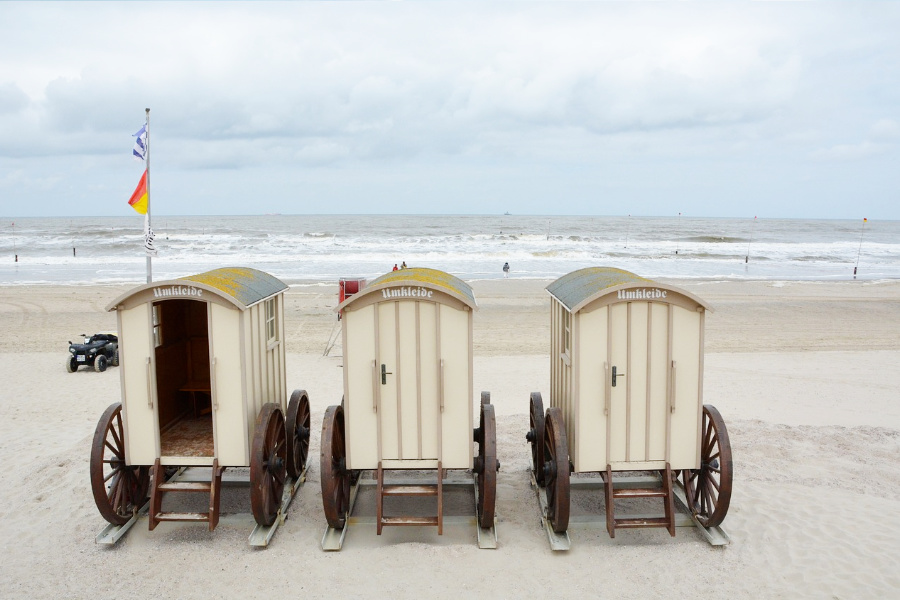 Bijzondere standstoelen en omkleedwagens op Norde, foto: Ozean V3, Pixabay