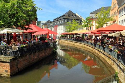 Saarburg, voor wandelaars die van gezelligheid houden