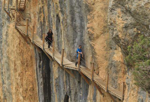 Het onwaarschijnlijke wandelpad van de Pasarelas de Montfalco