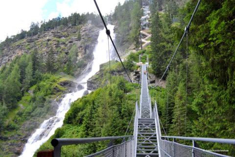 Met trappen langs de hoogste waterval van Tirol