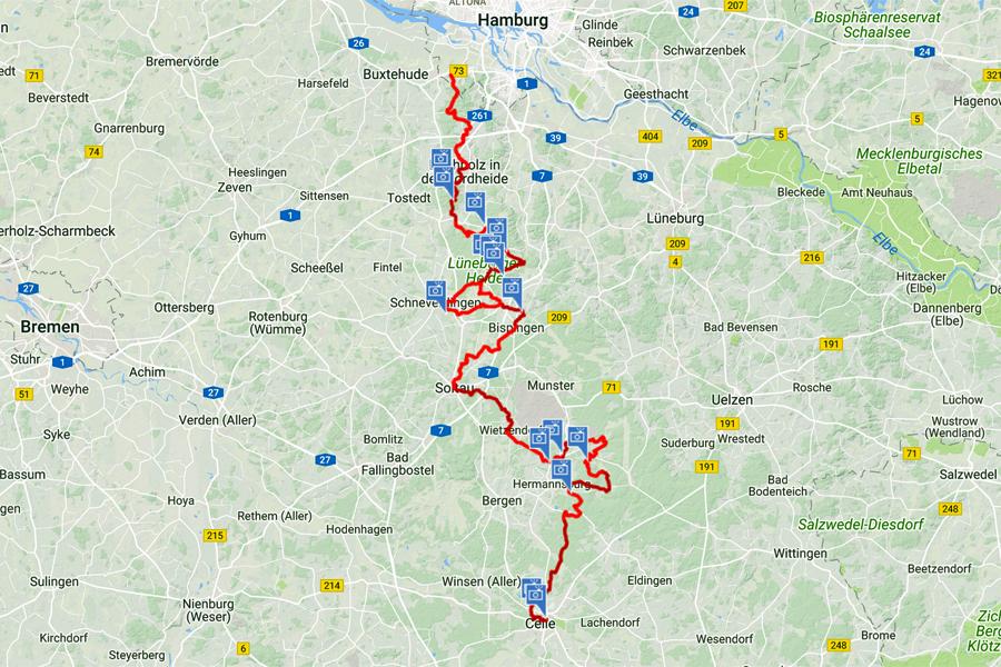 Heidschnuckerweg-kaart