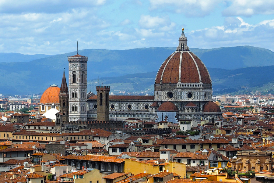 Uitzicht-over-centrum-Florence,-Lione-Kolsteren
