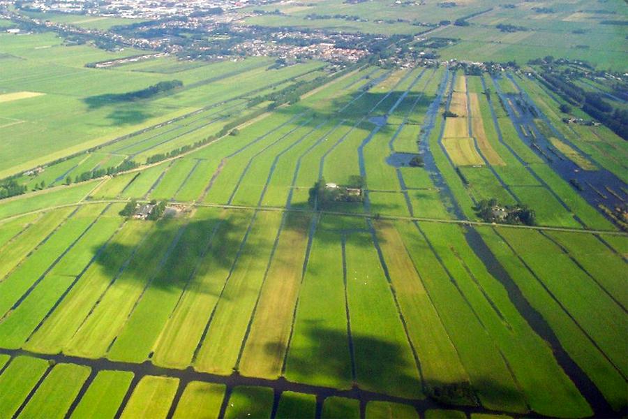 De oude polder bij Wilnis. Foto: Jan Arkesteijn, Wikimedia