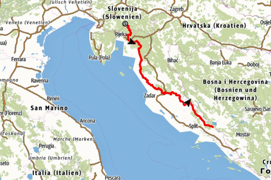 Via-Dinarica-Trail-op-de-kaart