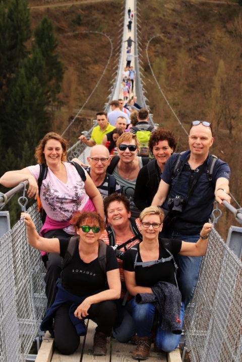 Deelnemers Groepswandelvakantie op de Geierlay