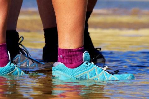 Kan dat, een waterdichte wandelschoen die toch ademt?