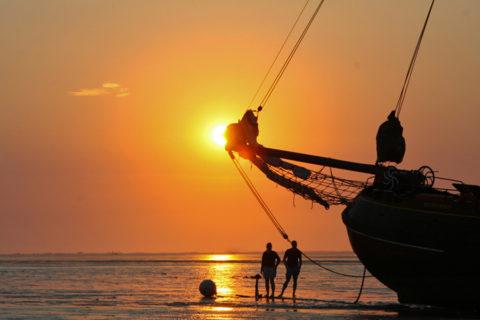 21 & 22 juli: Meezeilen en droogvallen op de Waddenzee