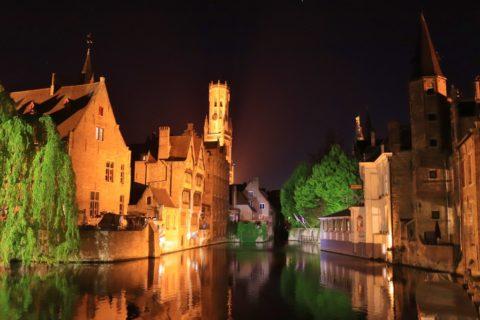 Een nachtwandeling door Brugge