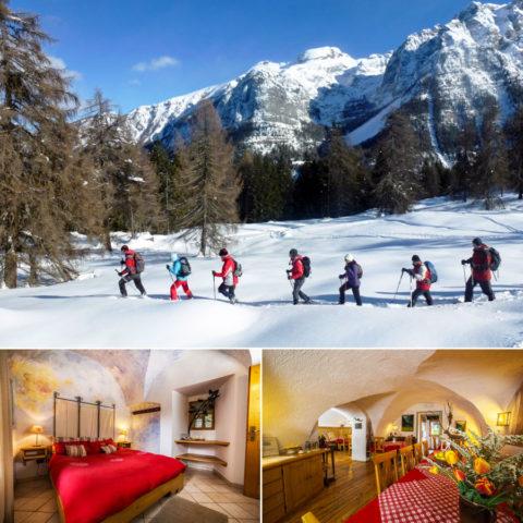 Winterwandel arrangement vanuit Agritur-hotel in de Dolomieten