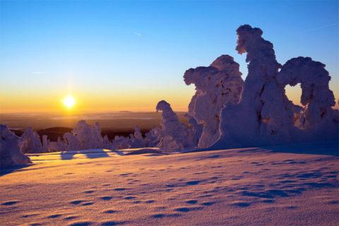 Bijzonder winters wandelen in de Harz, naar de top van de Brocken
