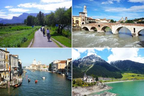 De comfortabelste manier om van Tirol naar Venetië te fietsen