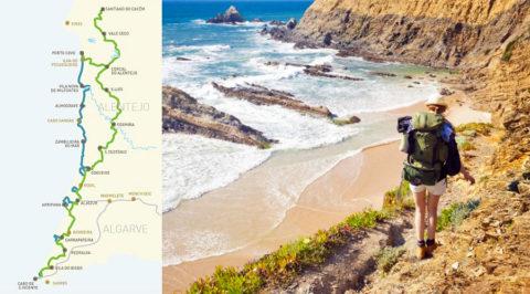 Snuif hier de zee, tijm en rozemarijn, wandelend langs de Costa Vicentina