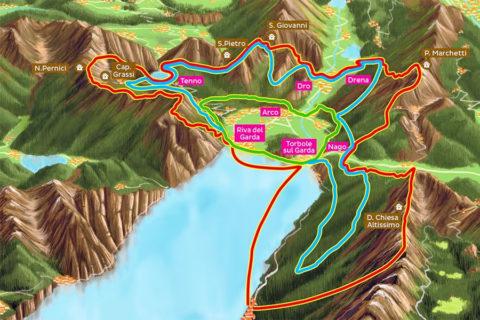 De Gardatrek, drie wandelroutes over 'de kroon boven het Gardameer'