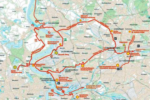 700 kilometer fietspad langs de industriële monumenten van de Ruhr