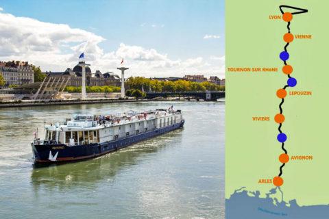 8-daagse reis langs de Rhône, fietsend en varend met exclusieve salonboot