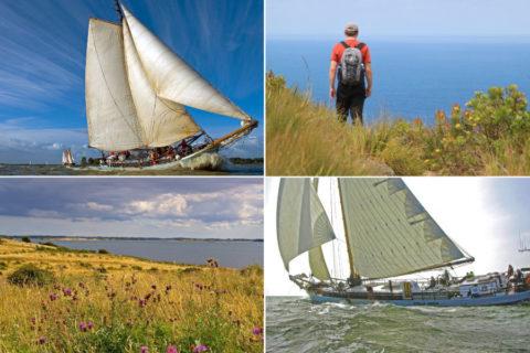 Op Wandel-Zeil-Expeditie van eiland naar eiland door de Deense wateren
