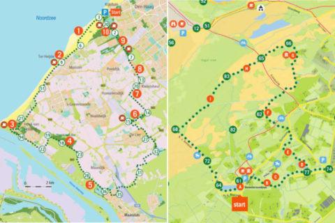 De mooiste fiets- en wandelroutes van Zuid-Holland op de kaart