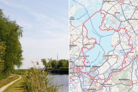 Zuiderzeepad: in 28 etappes 492km rond de historie van het IJsselmeer